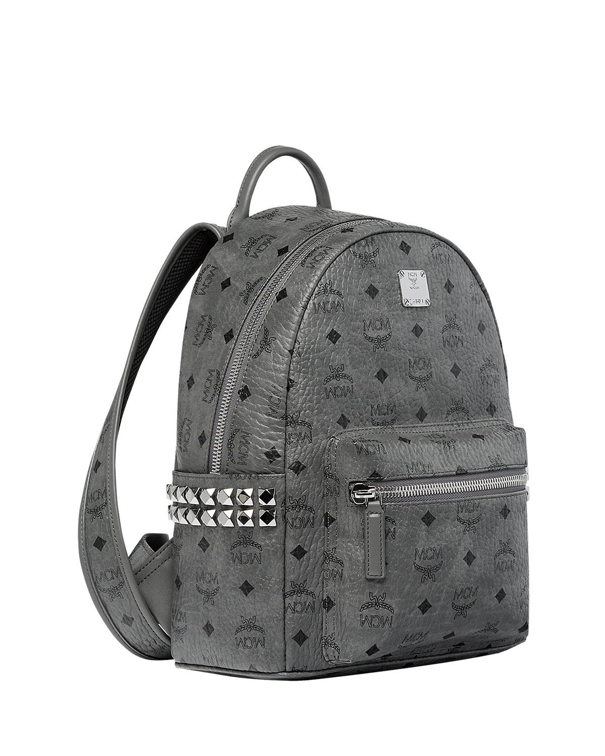 4c5d24450cb76 MCM Stark Medium Stud Faux Leather Backpack in Gray for Men - Save 9% - Lyst