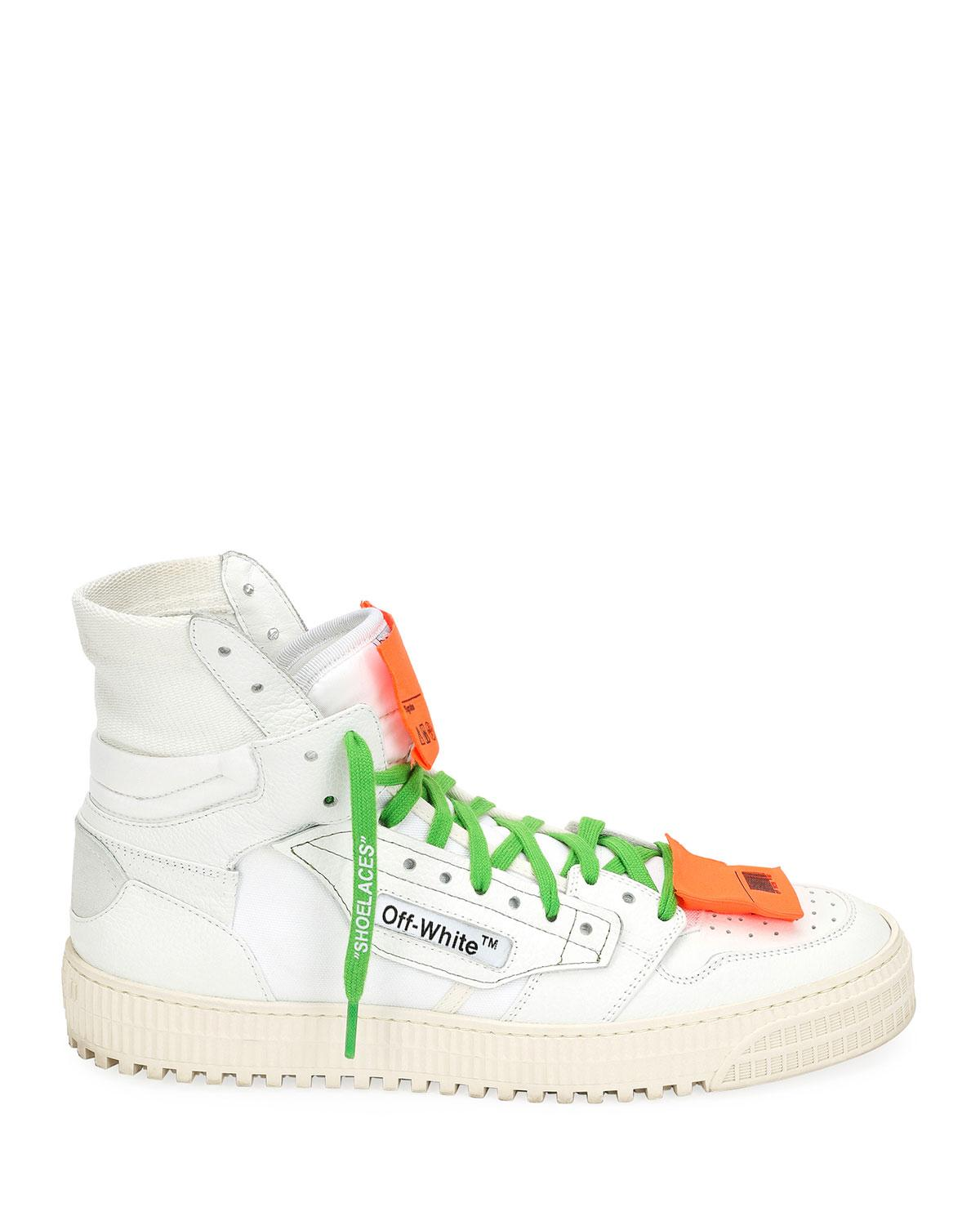 b919000beedb1 Lyst - Off-White c o Virgil Abloh Men s Low 3.0 Leather High-top Sneakers  in White for Men