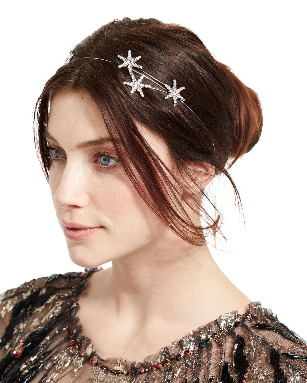 Jennifer Behr Lina Swarovski Crystal & Pearl Circlet Headband aVoszk
