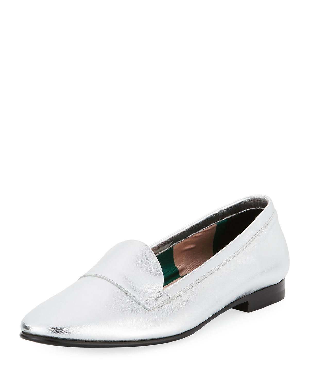 f46b4d74bb3 Pierre Hardy Jacno Metallic Flat Loafers in Metallic - Lyst