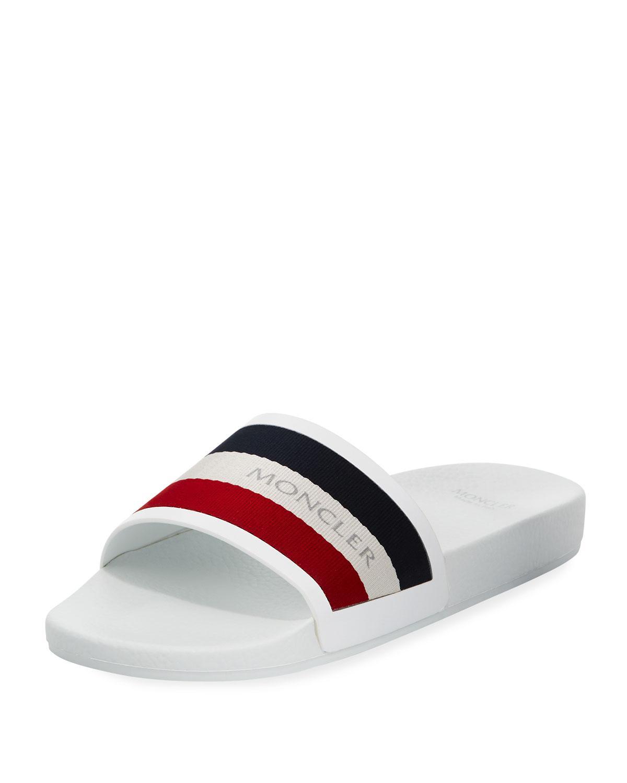 bde82f9cd Lyst - Moncler Men s New Basile Slide Sandal in White for Men