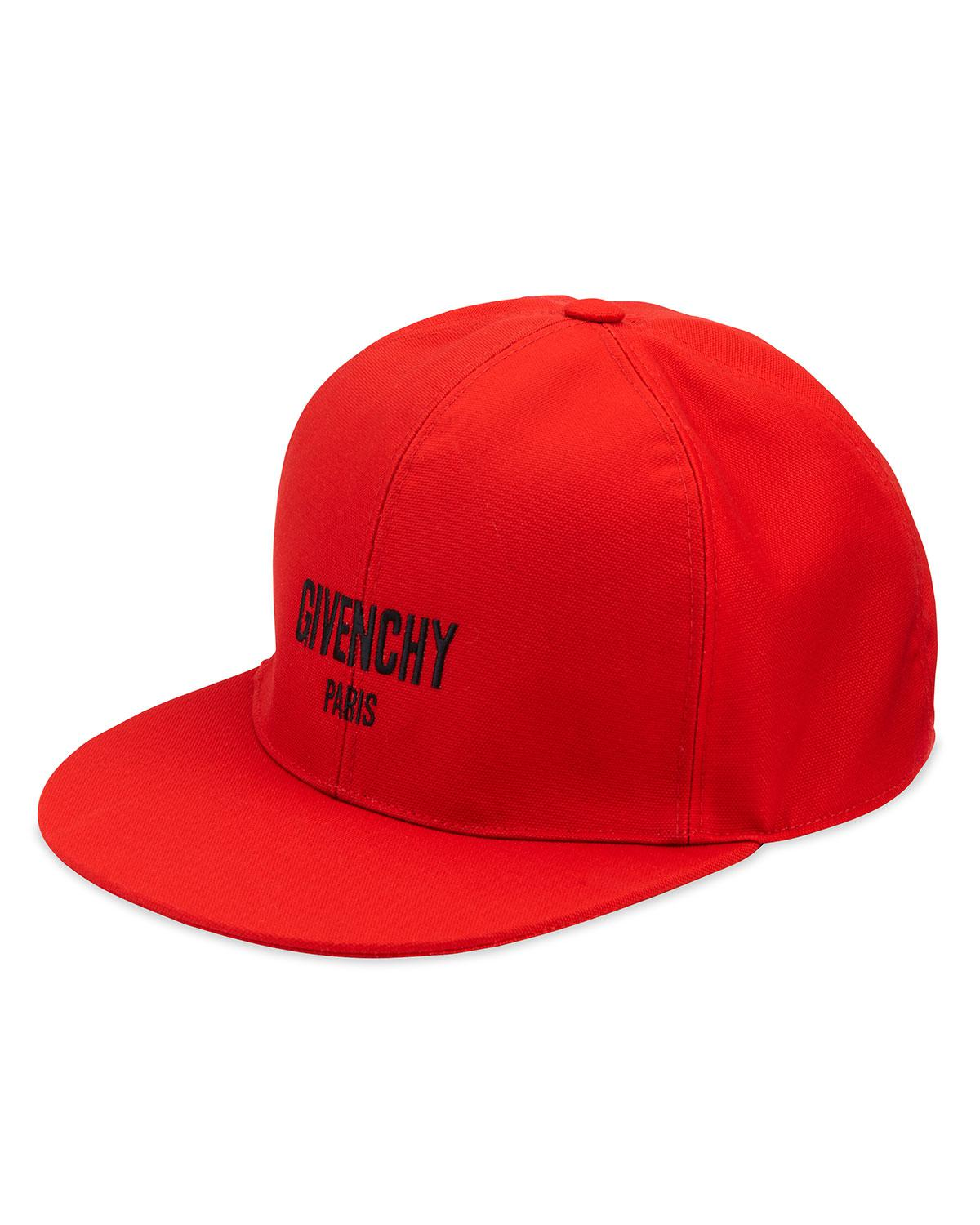 Lyst - Givenchy Canvas Baseball Cap in Red for Men - Save 50% 17a1fa104432