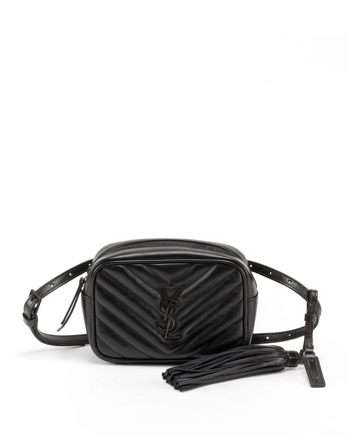 d91ae96239f1 Saint Laurent. Women s Lou Monogram Ysl Quilted Leather Belt Bag ...