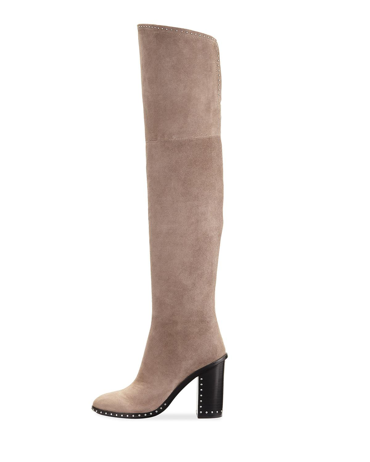c6f6c2daf86 Lyst - Sigerson Morrison Mars Studded Over-the-knee Boot in Gray