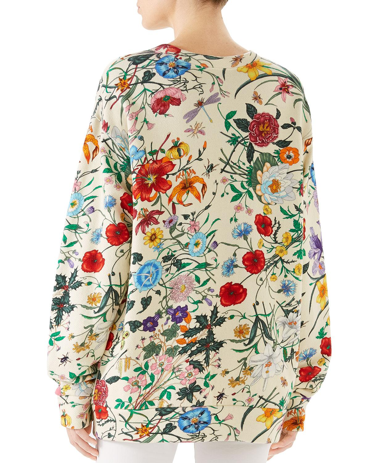 a595a48562a0 Lyst - Gucci Oversize Sweatshirt With Print in White