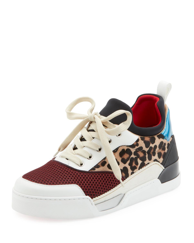 f19eac3a52e52 Christian Louboutin. Women s Red Men s Aurelien Colorblock Low-top Sneakers