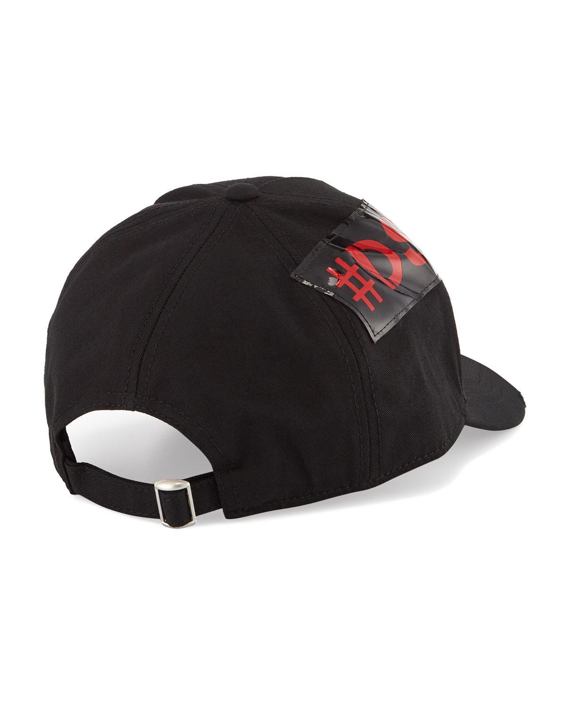 b6bcf6ff Lyst - DSquared² Men's Logo-trim Gabardine Baseball Cap in Black for Men