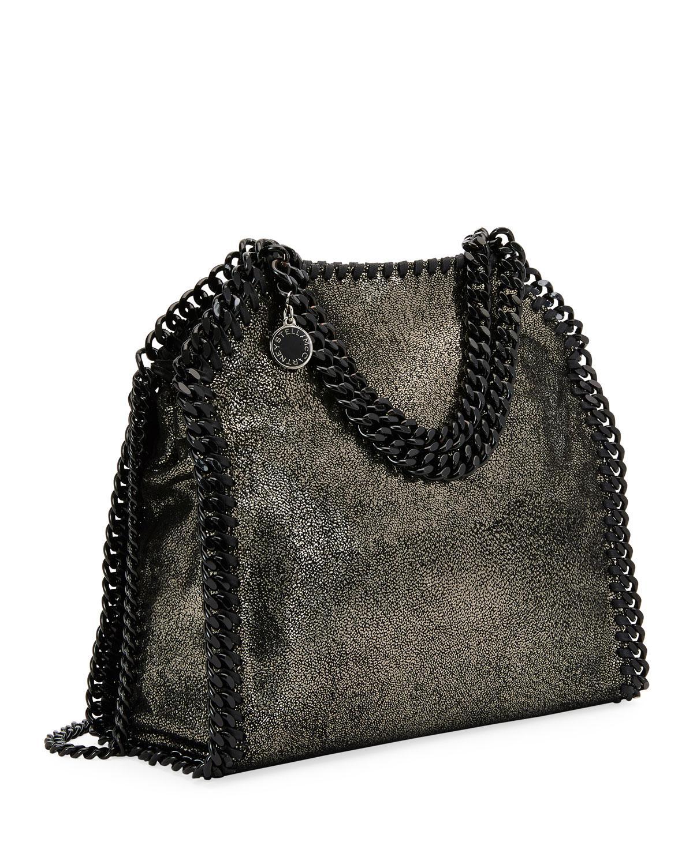 af622f9c793e Stella McCartney Falabella Tiny Metallic Dot Shoulder Bag - Black Hardware  in Gray - Lyst