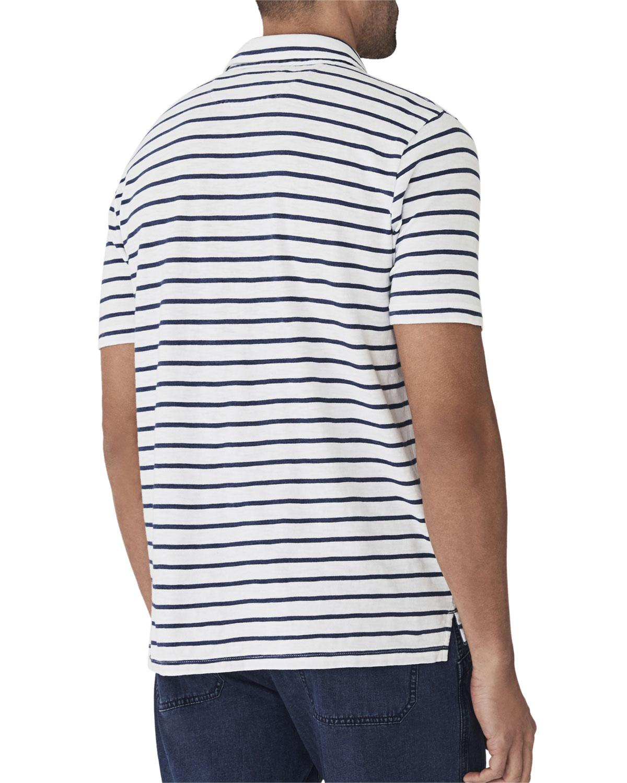 09db77736 ... where to buy lyst faherty brand mens breton striped pocket polo shirt  for men f390e 2ba80