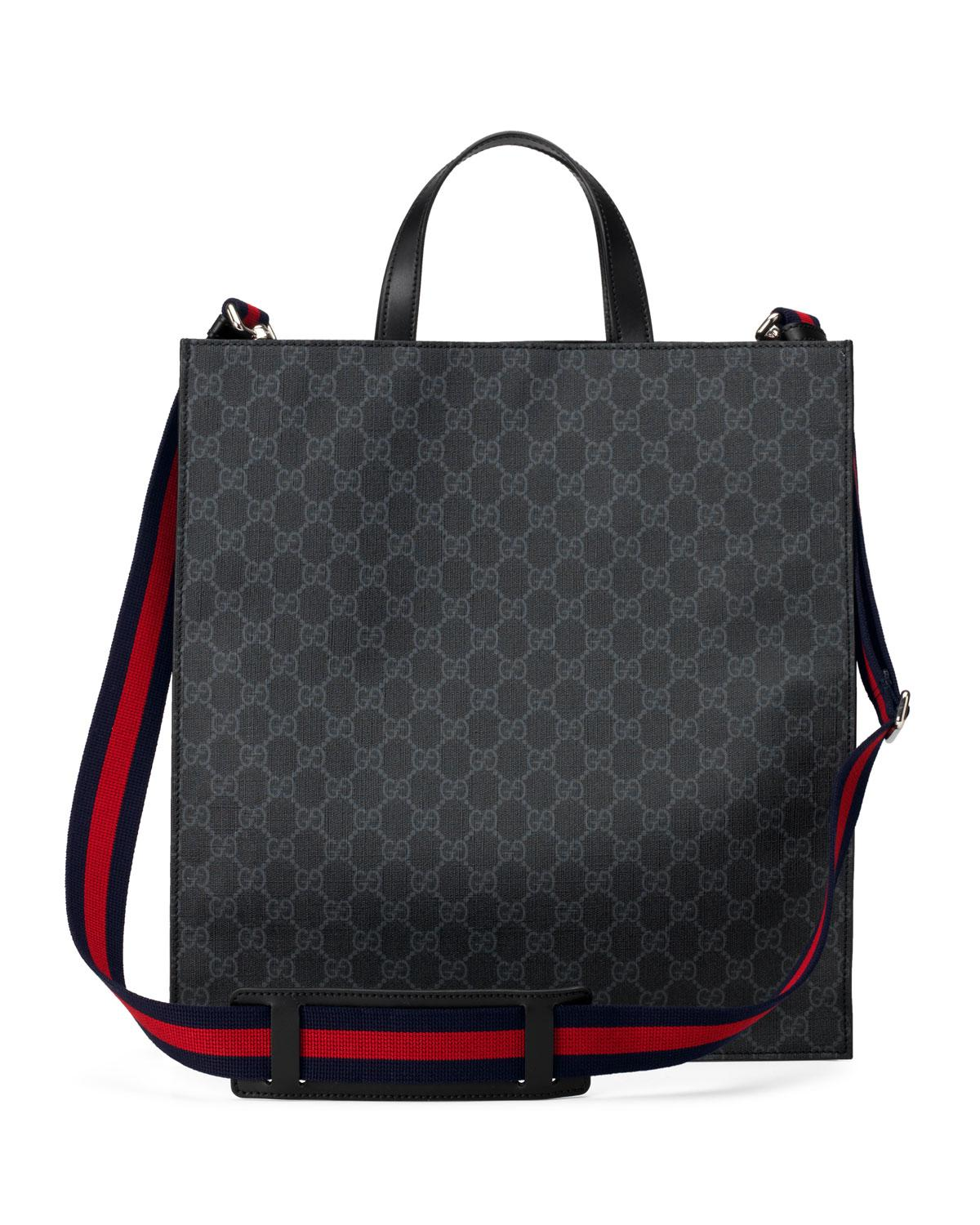57d96acf015 Gucci - Black Men s GG Supreme Tote Bag With Patches - Lyst. View fullscreen