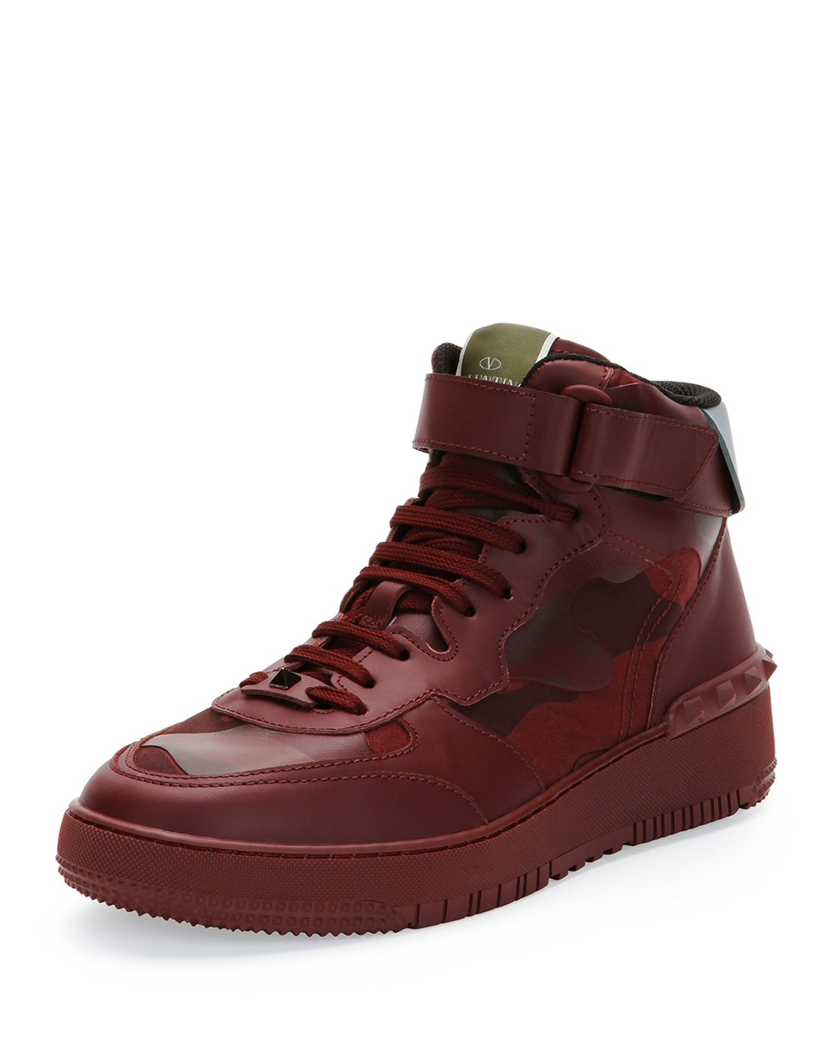 valentino rock be camo high top sneaker lyst. Black Bedroom Furniture Sets. Home Design Ideas