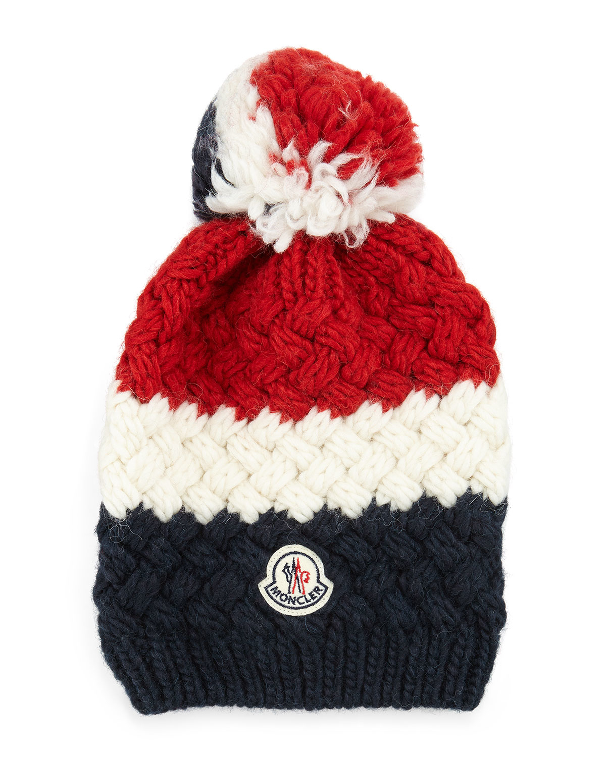 29afb24ed Snap Moncler Bobble Top Beanie in Red Lyst photos on Pinterest
