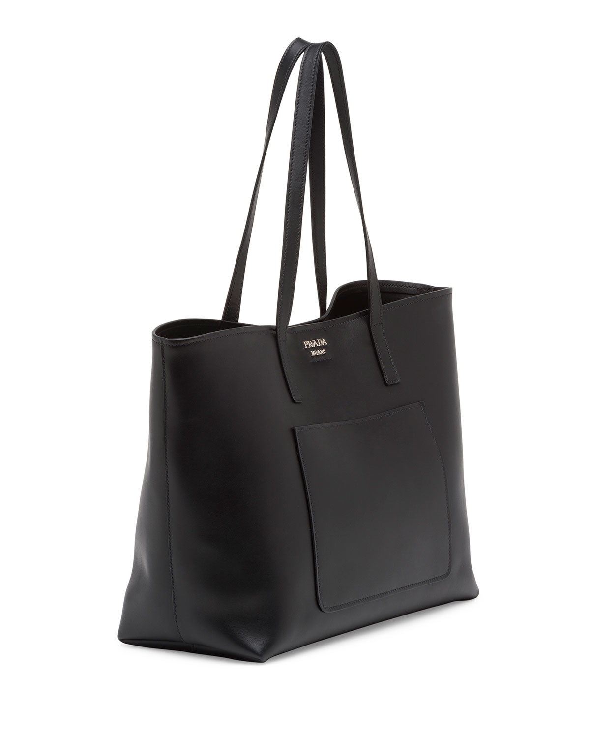 Prada Soft Leather Shopper Tote Bag In White Lyst