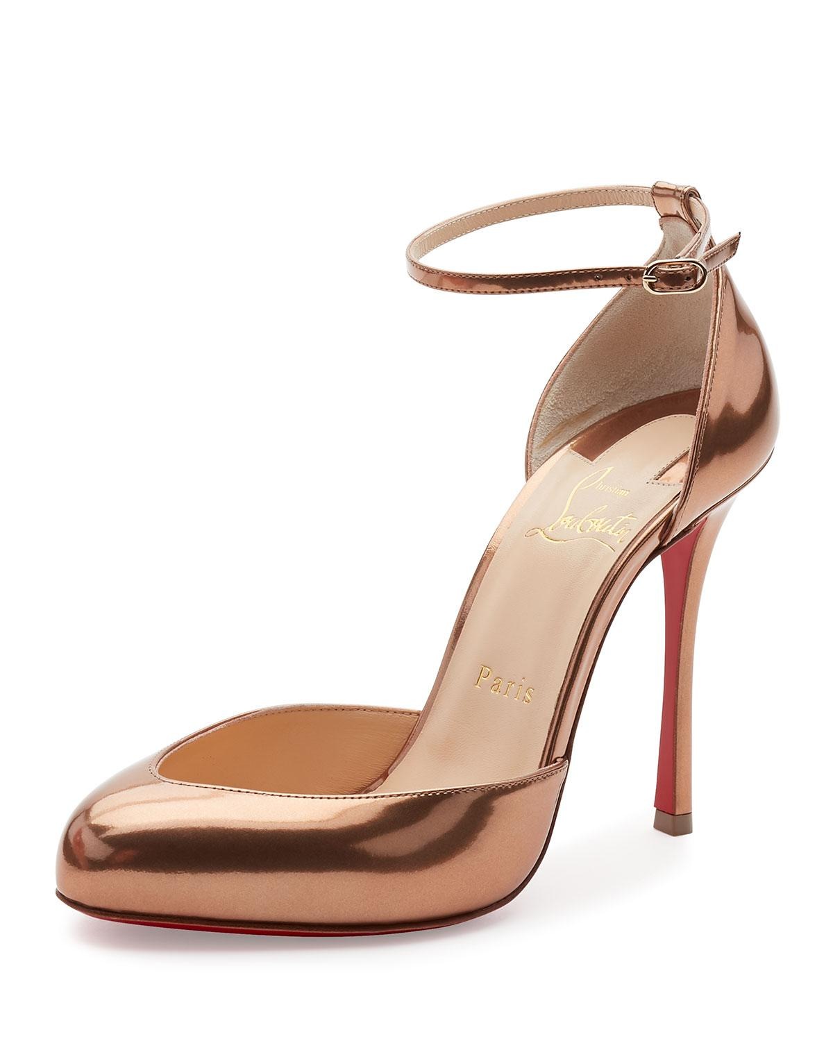 119f2657faf0 Lyst - Christian Louboutin Dollyla Patent 100mm Red Sole Pump in Natural