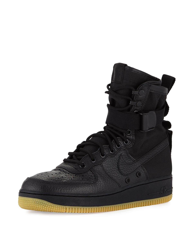 Nike Men's Af1 Leather High-top Sneaker in Black for Men ...