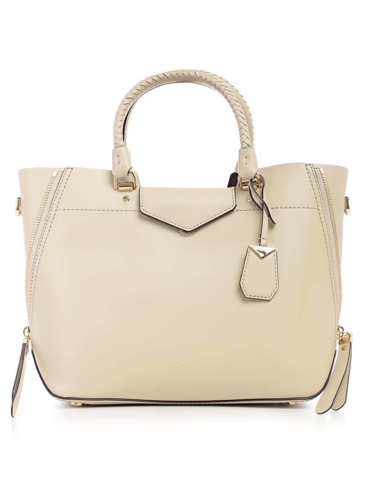 Blakely Large Tote Bag in Oat Viola Leather Michael Michael Kors rdDmwQp4q5