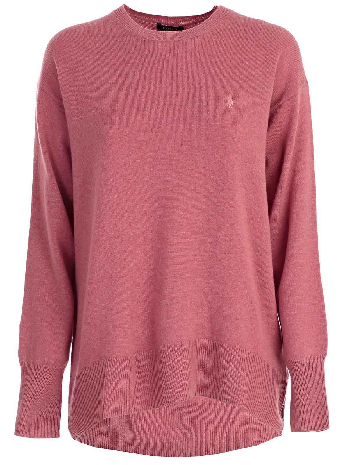 sito affidabile 51e00 b72b3 Lyst - Polo Ralph Lauren Maglia M/l Over Jersey E Lana in Pink