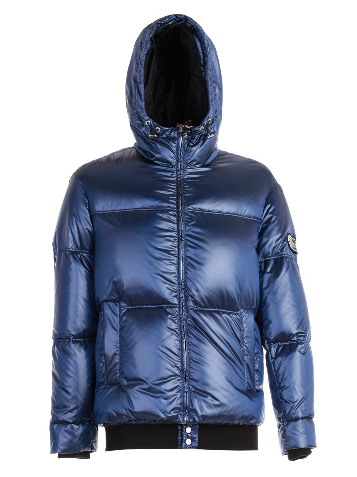 classic fit 44357 e5018 Lyst - Versace Piumino Lucido in Blue for Men