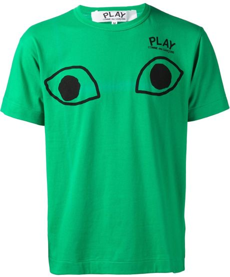Play Comme Des Gar Ons Play Logo Detail T Shirt In Green