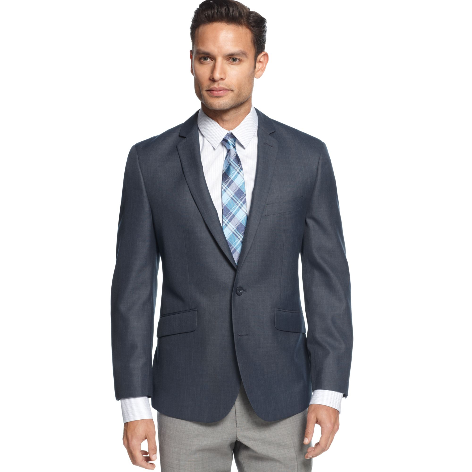 Kenneth cole reaction Modern Blue Sport Coat Slim Fit in Blue for ...