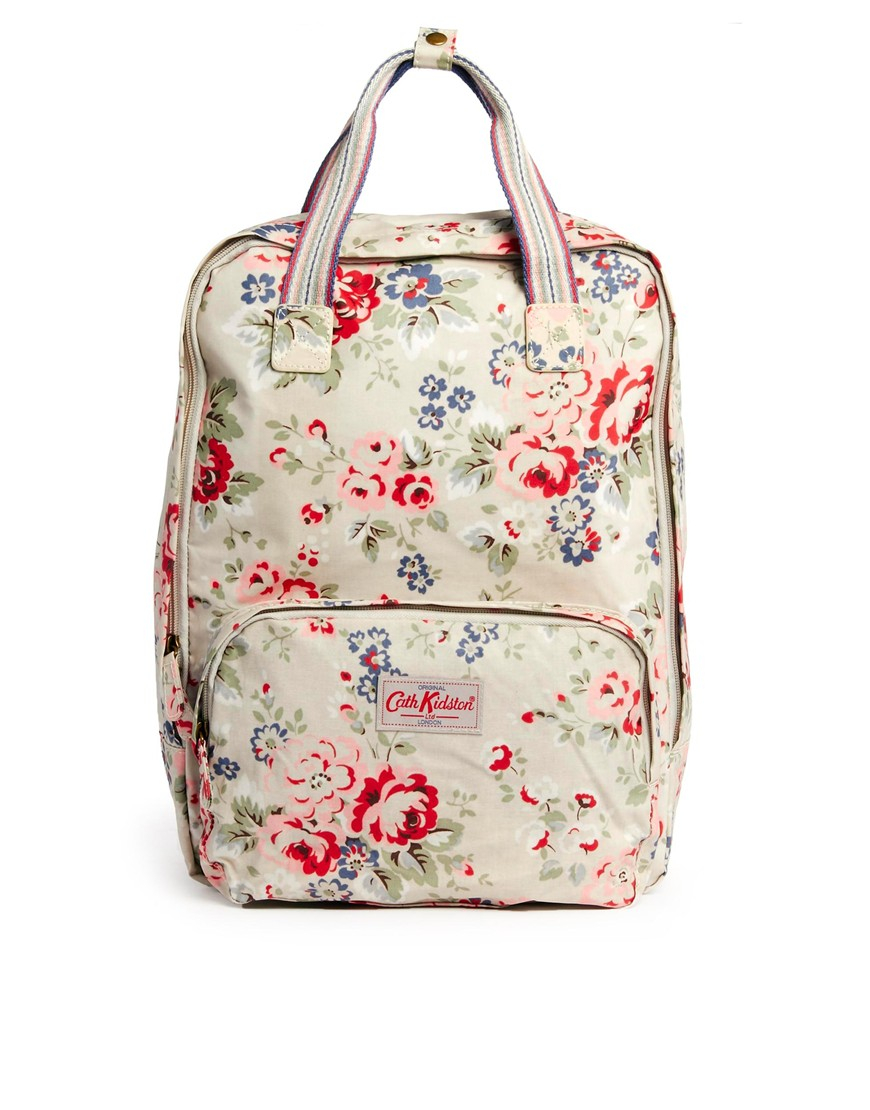cath kidston large spray backpack in multicolor cream lyst. Black Bedroom Furniture Sets. Home Design Ideas