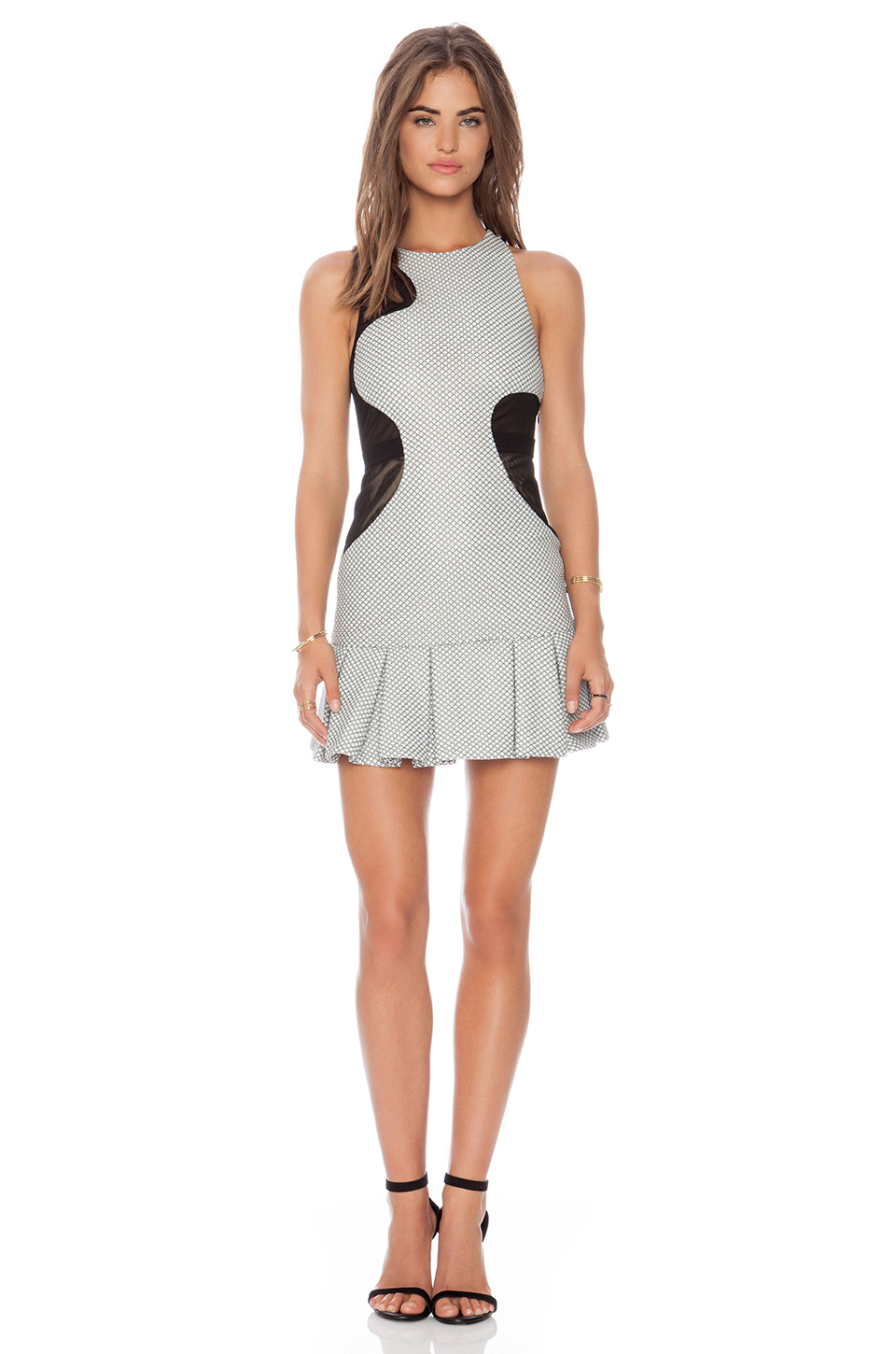 Three floor sola dress in gray lyst for Three floor yellow dress
