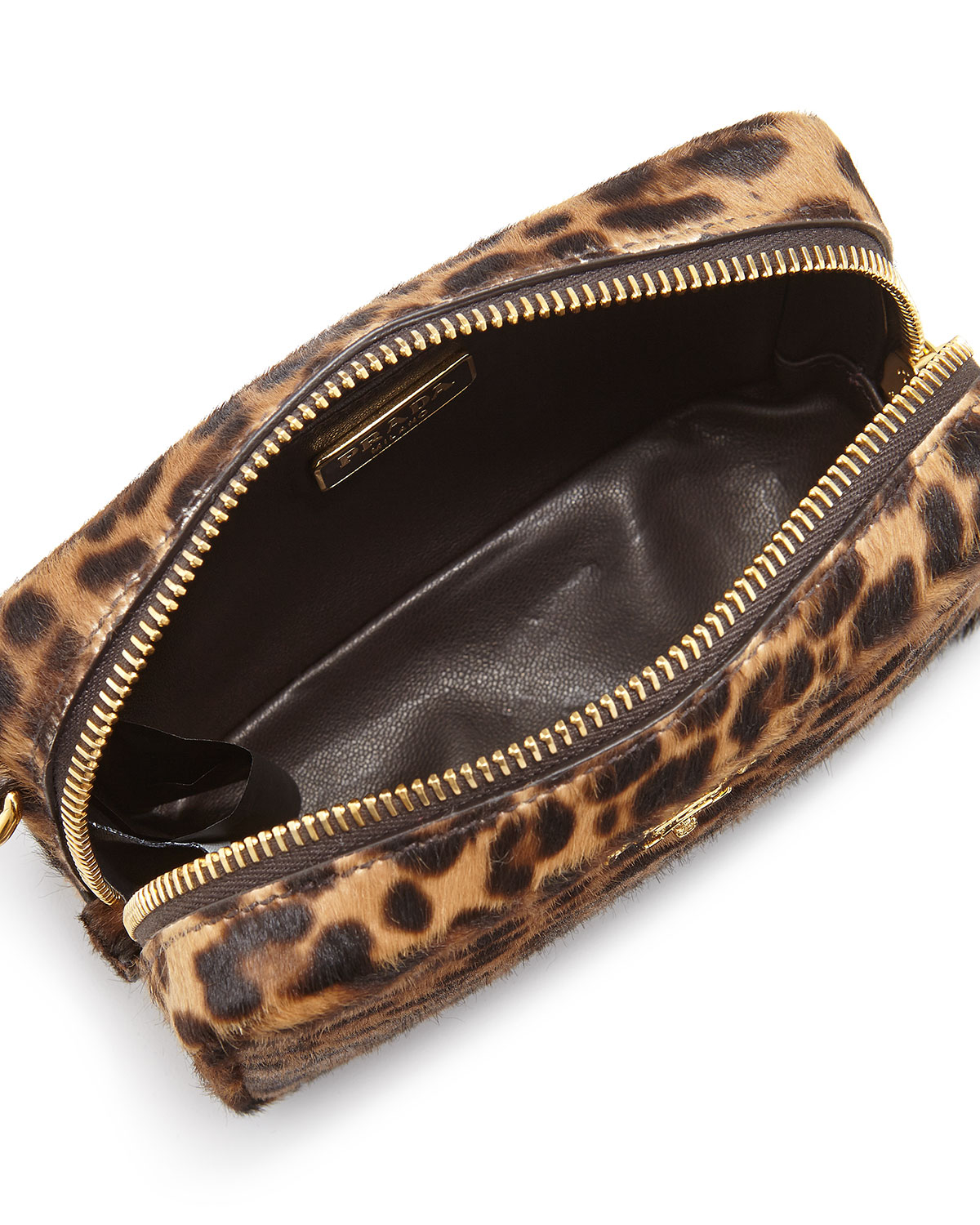 Prada Leopard-print Calf Hair Mini Crossbody Bag in Animal ...