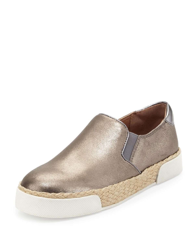 c3061537532b Lyst - Sam Edelman Banks Metallic Slip-on Sneaker in Metallic