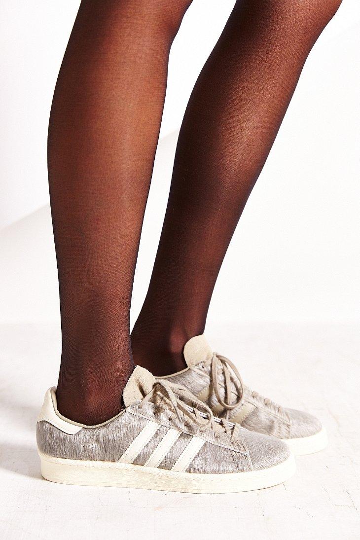 Lyst - adidas Originals Blue Calf Campus 80s Sneaker in Gray 624377931