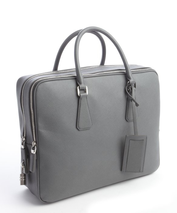 71322dcbe247 coupon code for lyst prada mercury saffiano leather small travel bag in  gray for men babbd