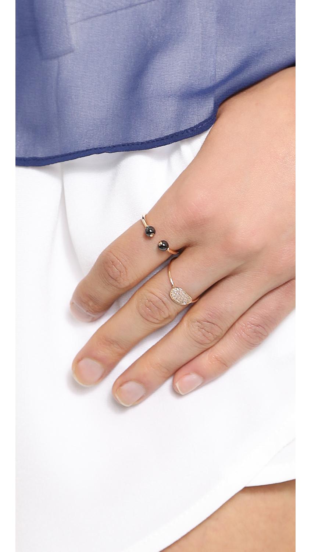 Ginette NY Large Wise 18-karat rose gold ring e9Cwyg