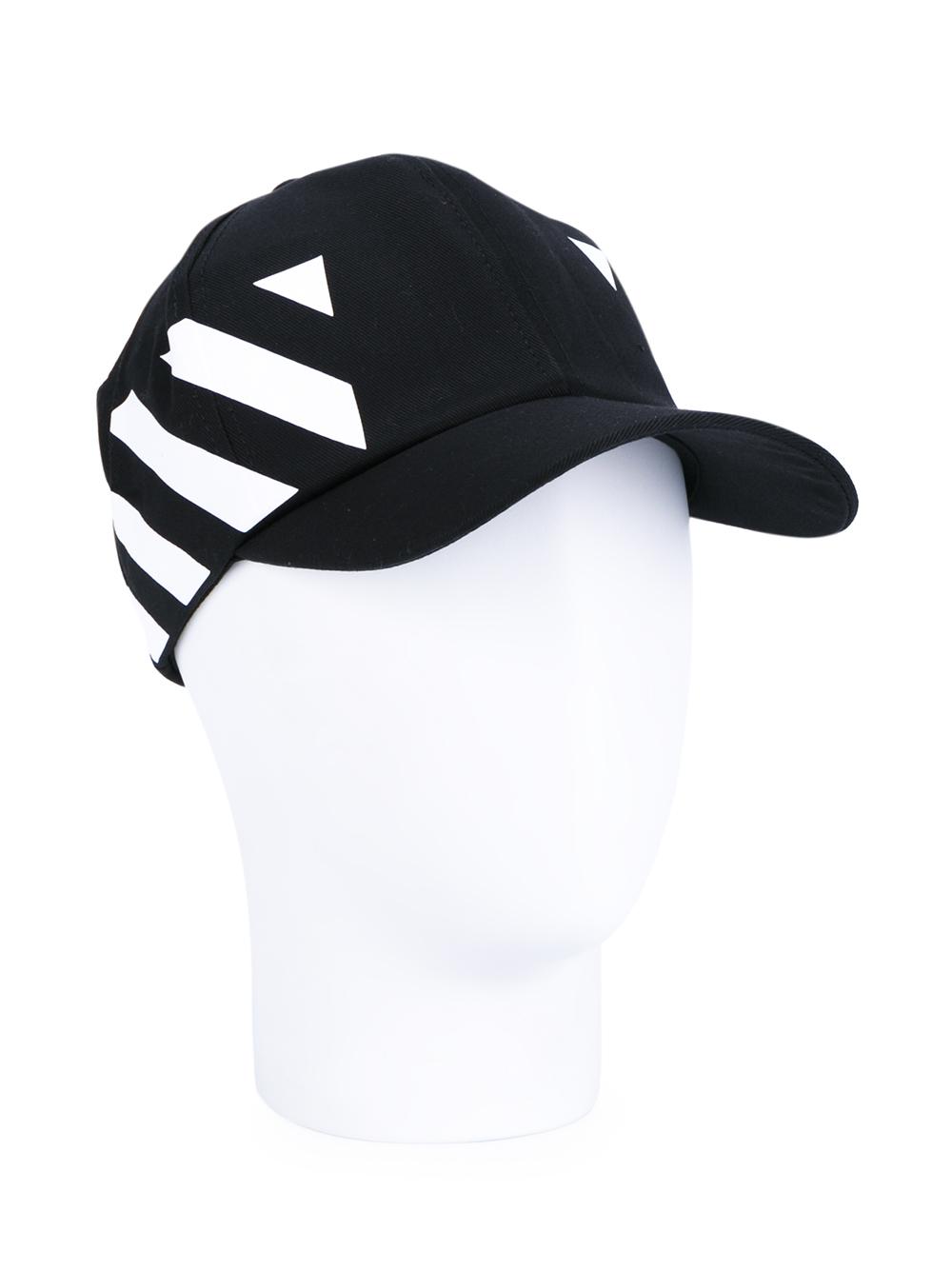 bc38df8078a16a Off-White c/o Virgil Abloh Baseball Cap With Stripe Print in Black ...
