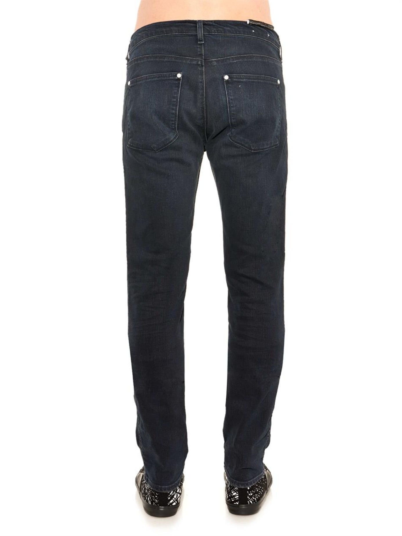 acne studios max man ray slim leg jeans in blue for men lyst. Black Bedroom Furniture Sets. Home Design Ideas