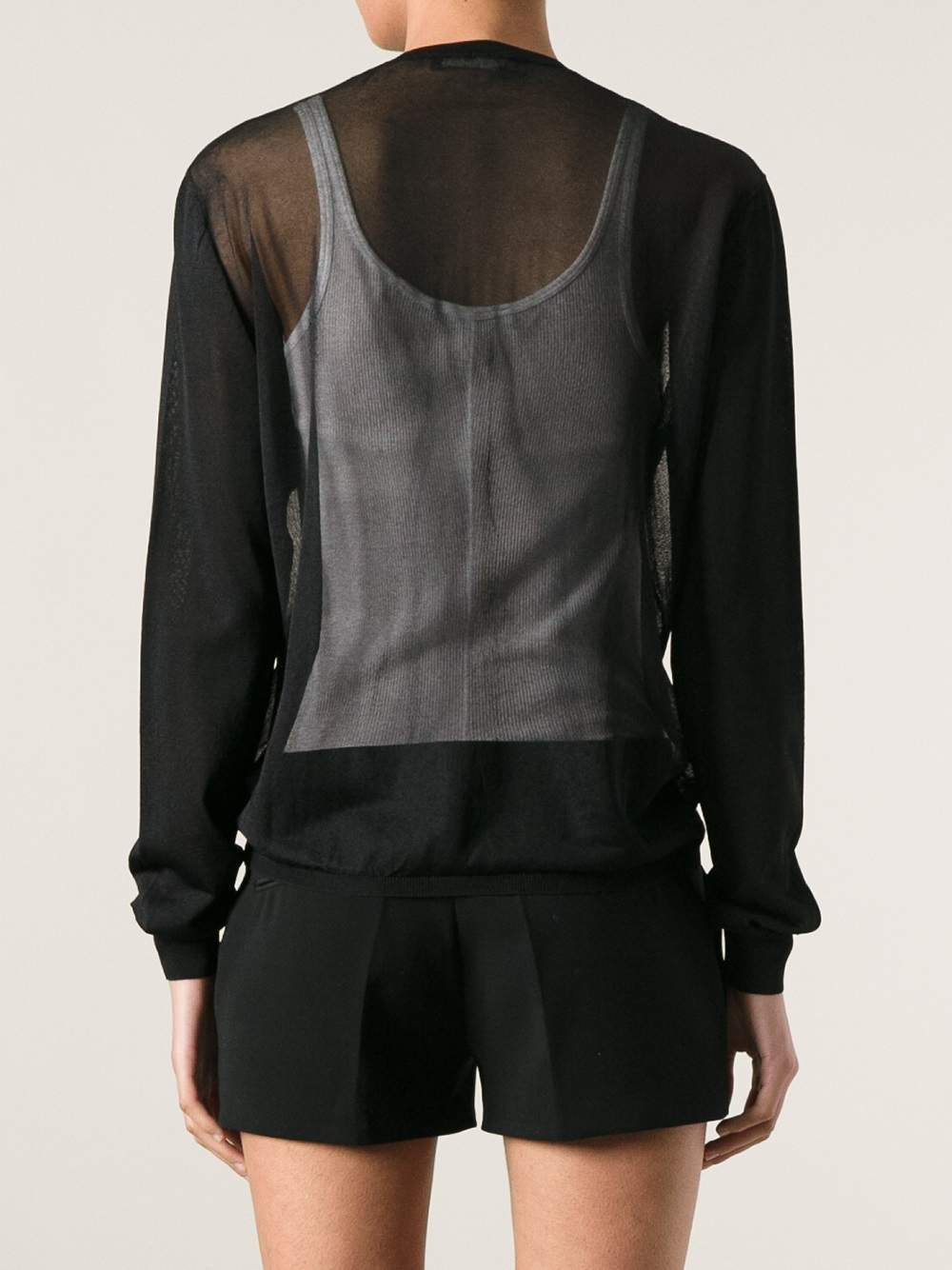 Dsquared² Sheer Cardigan in Black   Lyst