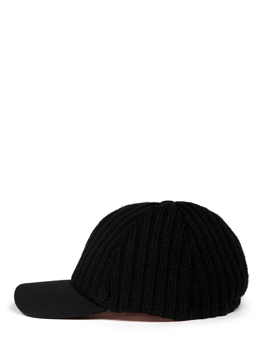 my bob knit baseball cap in black lyst