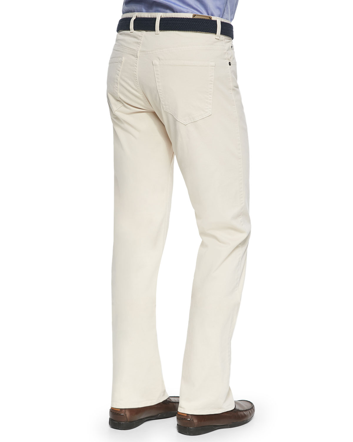 Peter millar 5-pocket Stretch Twill Pants in Natural for Men | Lyst