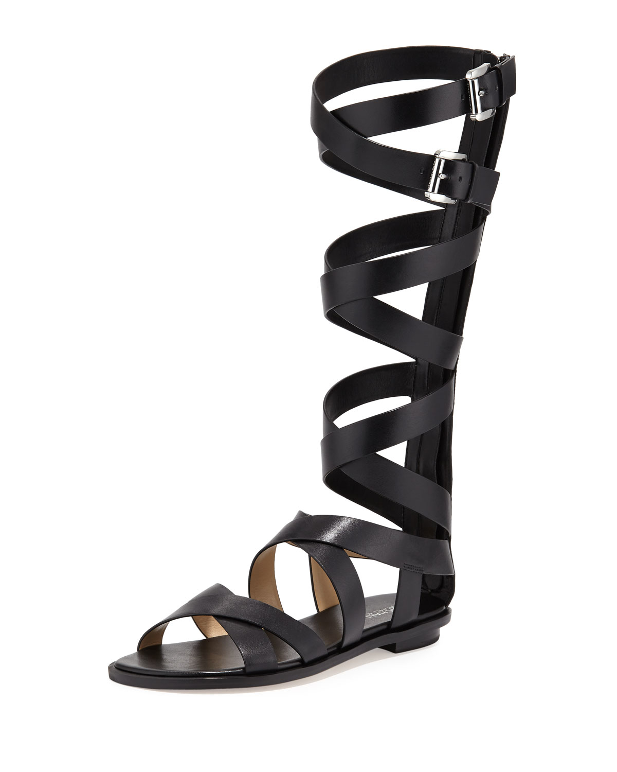 4031703e192e Lyst - MICHAEL Michael Kors Darby Leather Gladiator Sandals in Black