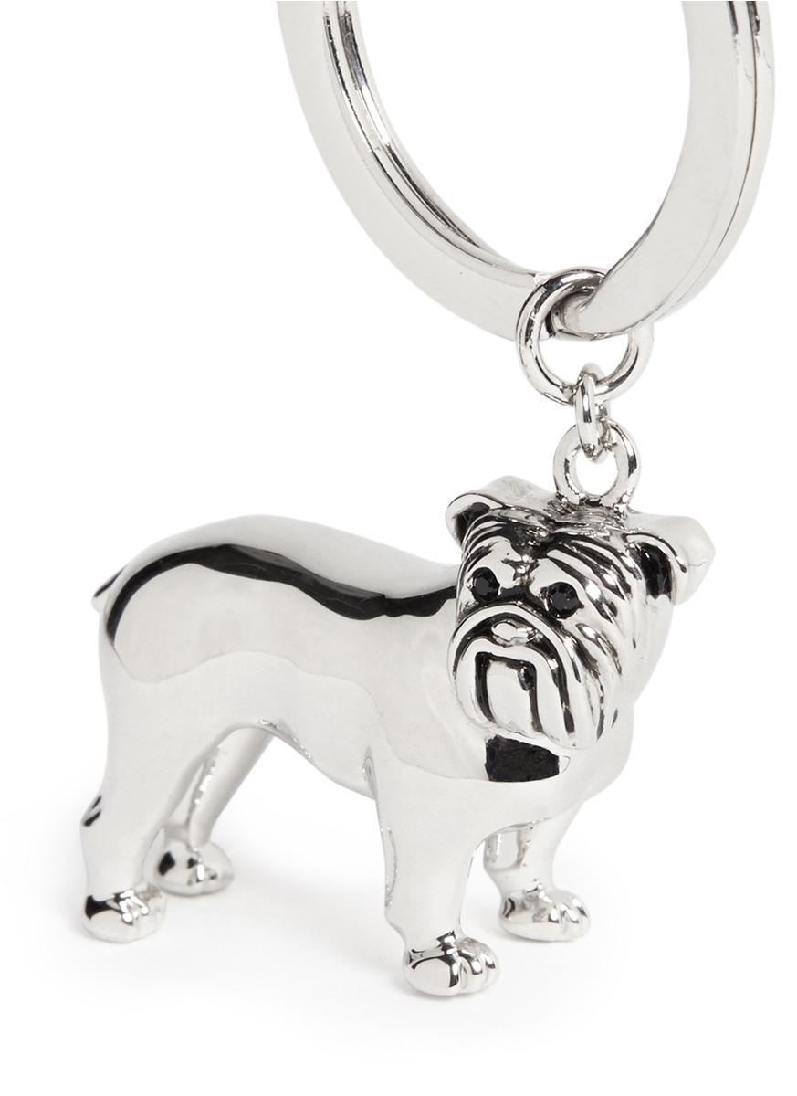 d8864688d28 Lyst - Babette Wasserman Bulldog Metal Key Ring in Metallic for Men