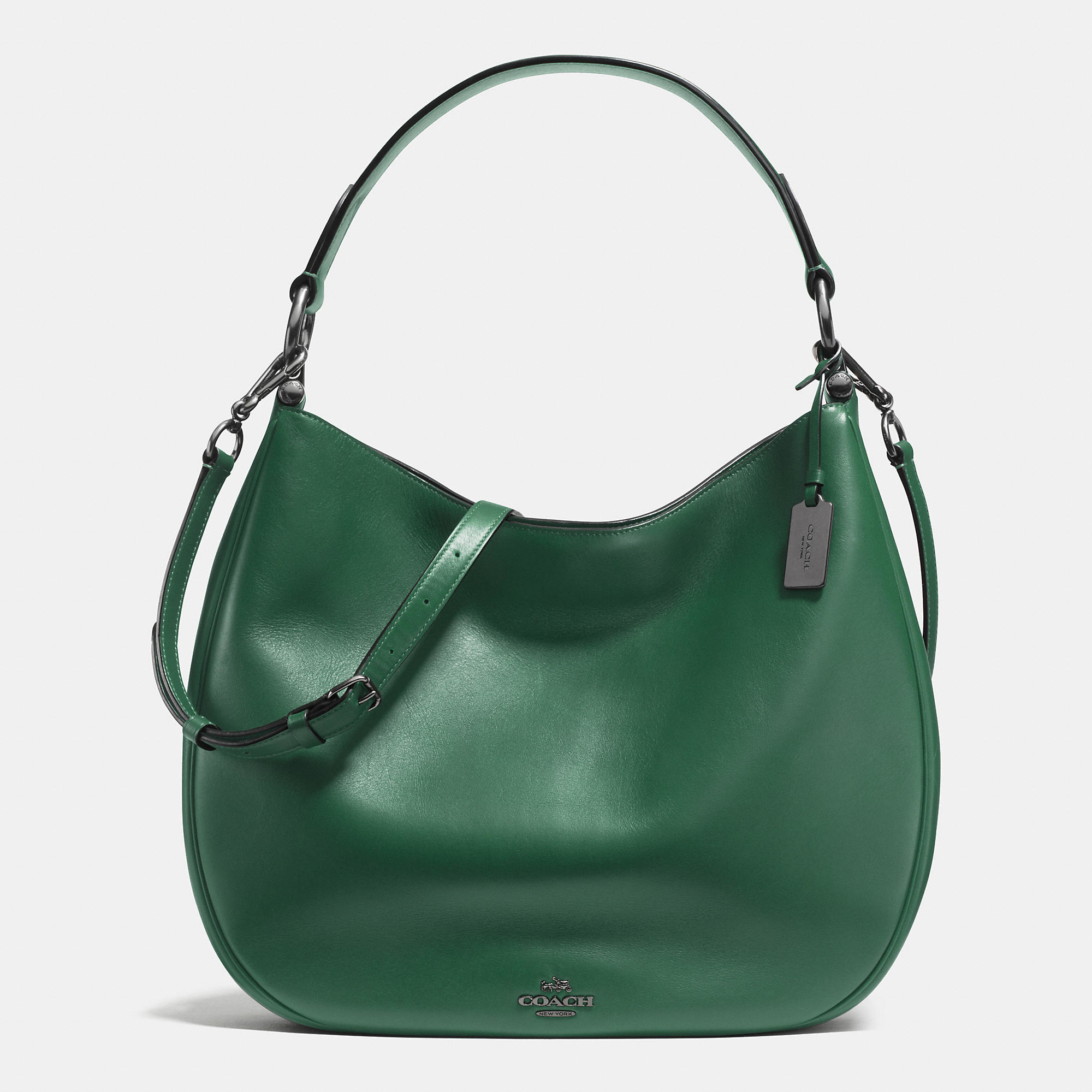252cfed02 ... greece lyst coach nomad hobo in glovetanned leather in green 698ab 9941a
