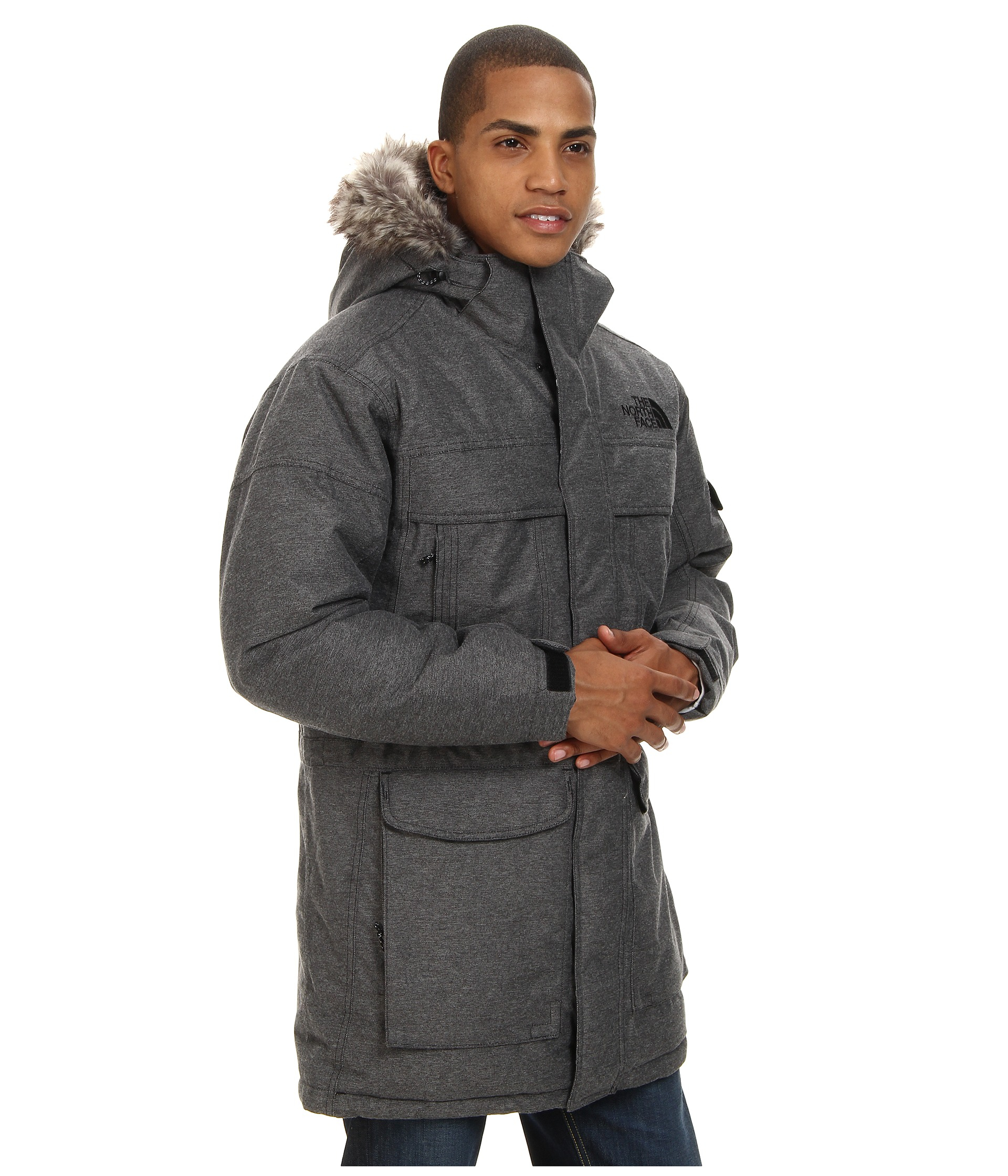 the north face mcmurdo parka in gray for men lyst. Black Bedroom Furniture Sets. Home Design Ideas