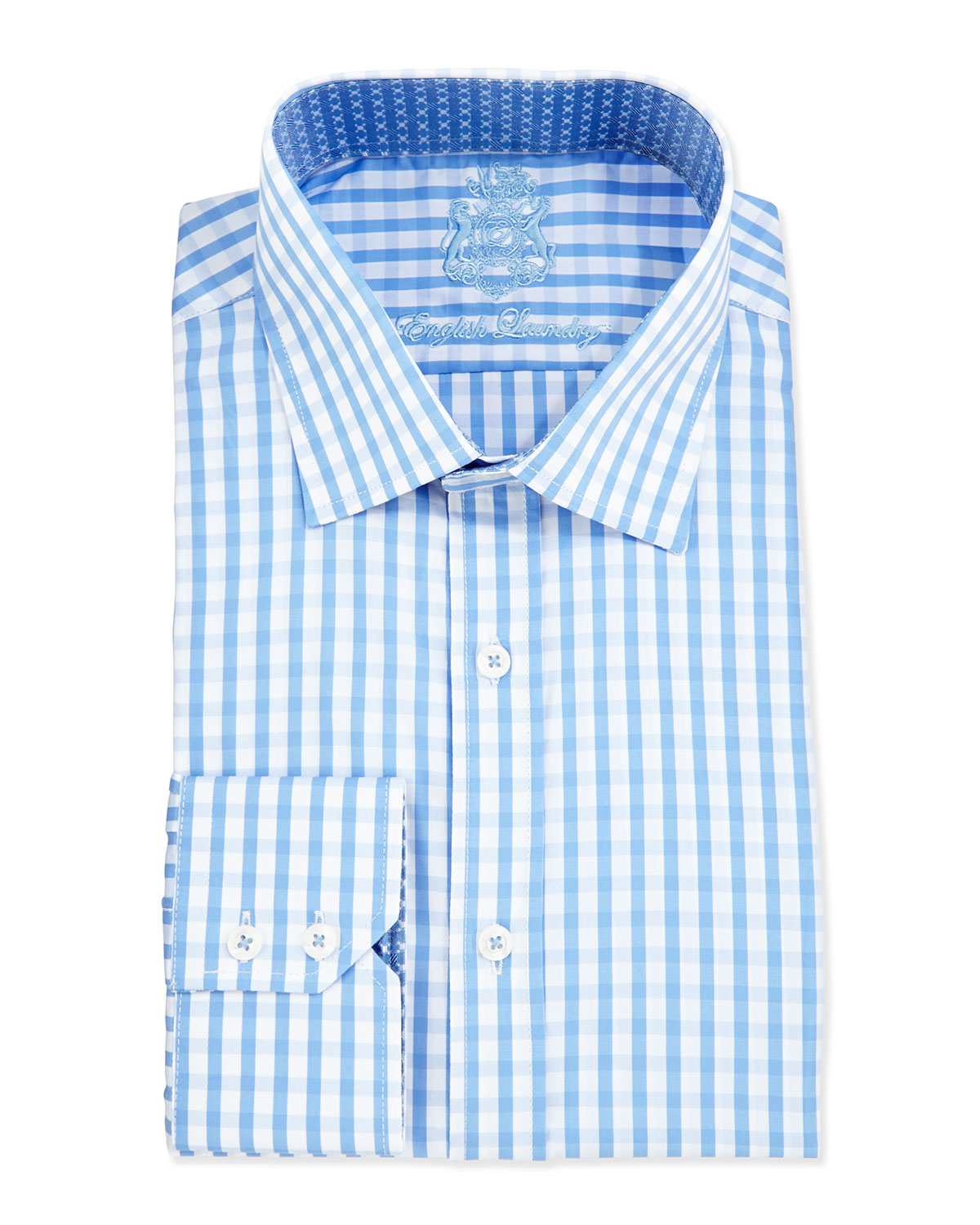 Lyst English Laundry Gingham Check Woven Dress Shirt In