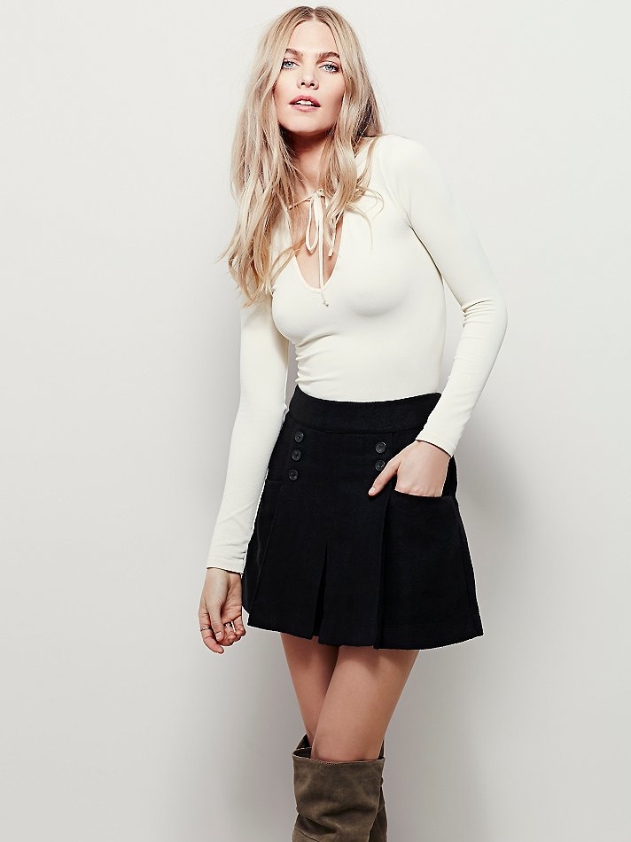 Free People Happy Together Mini Skirt In Black Lyst