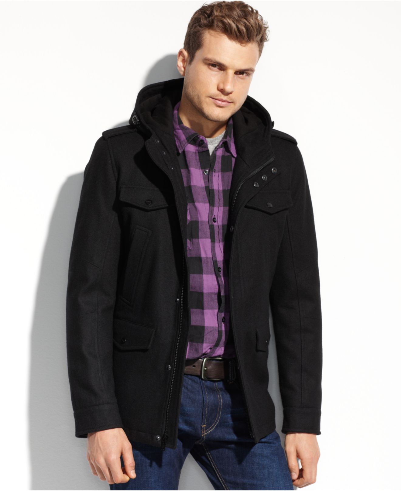 Shop the Latest Collection of Hooded Jackets & Coats for Men Online at thritingetqay.cf FREE SHIPPING AVAILABLE! Macy's Presents: The Edit - A curated mix of fashion and inspiration Check It Out Free Shipping with $49 purchase + Free Store Pickup.