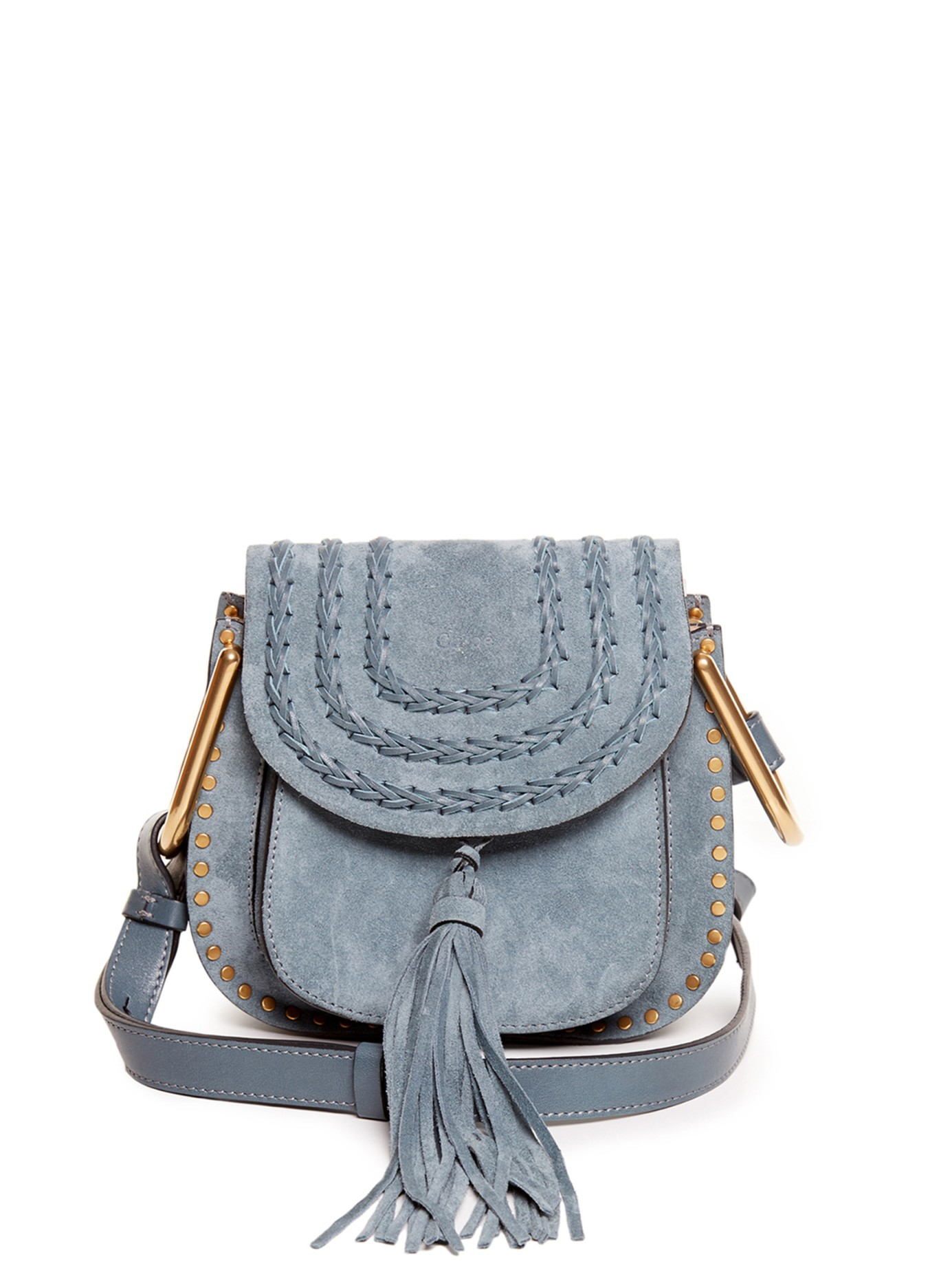 chlo hudson suede cross body bag in blue lyst. Black Bedroom Furniture Sets. Home Design Ideas