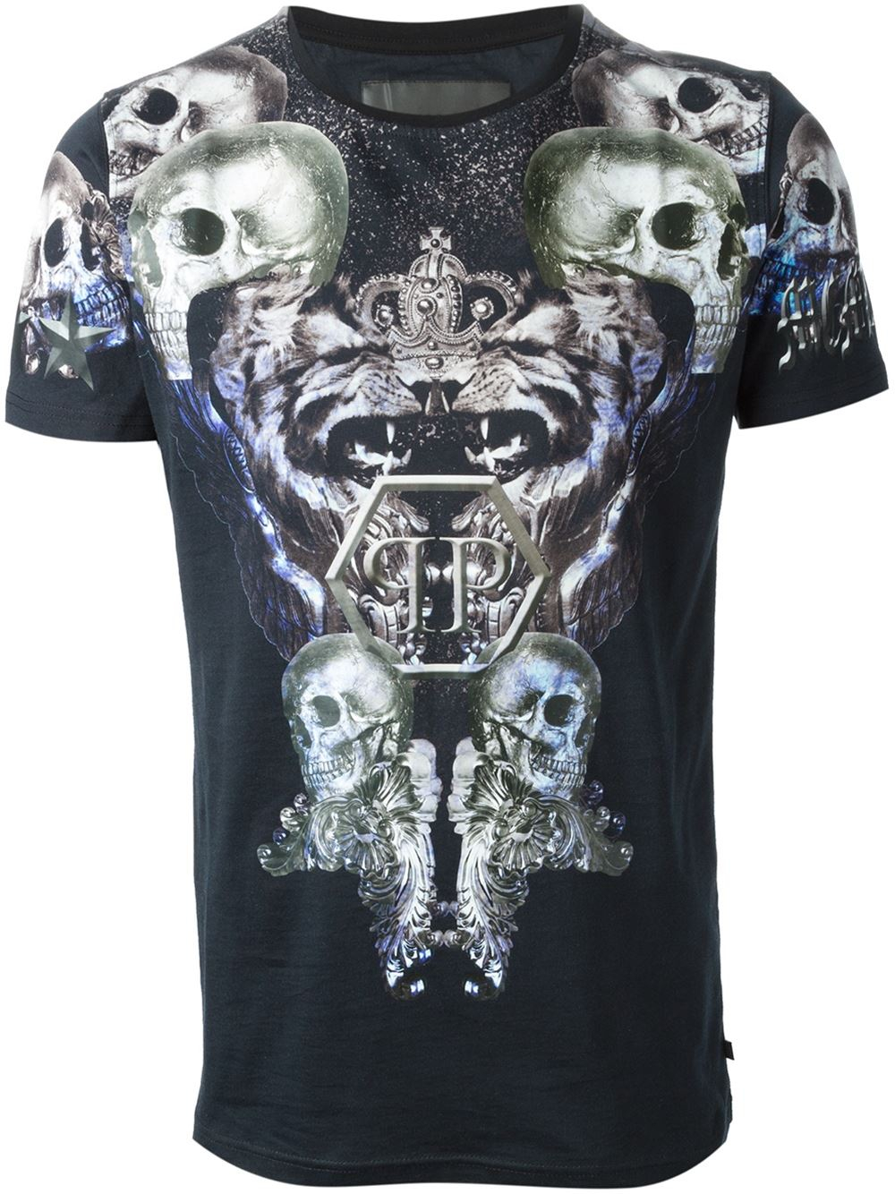 philipp plein memory t shirt in black for men lyst. Black Bedroom Furniture Sets. Home Design Ideas
