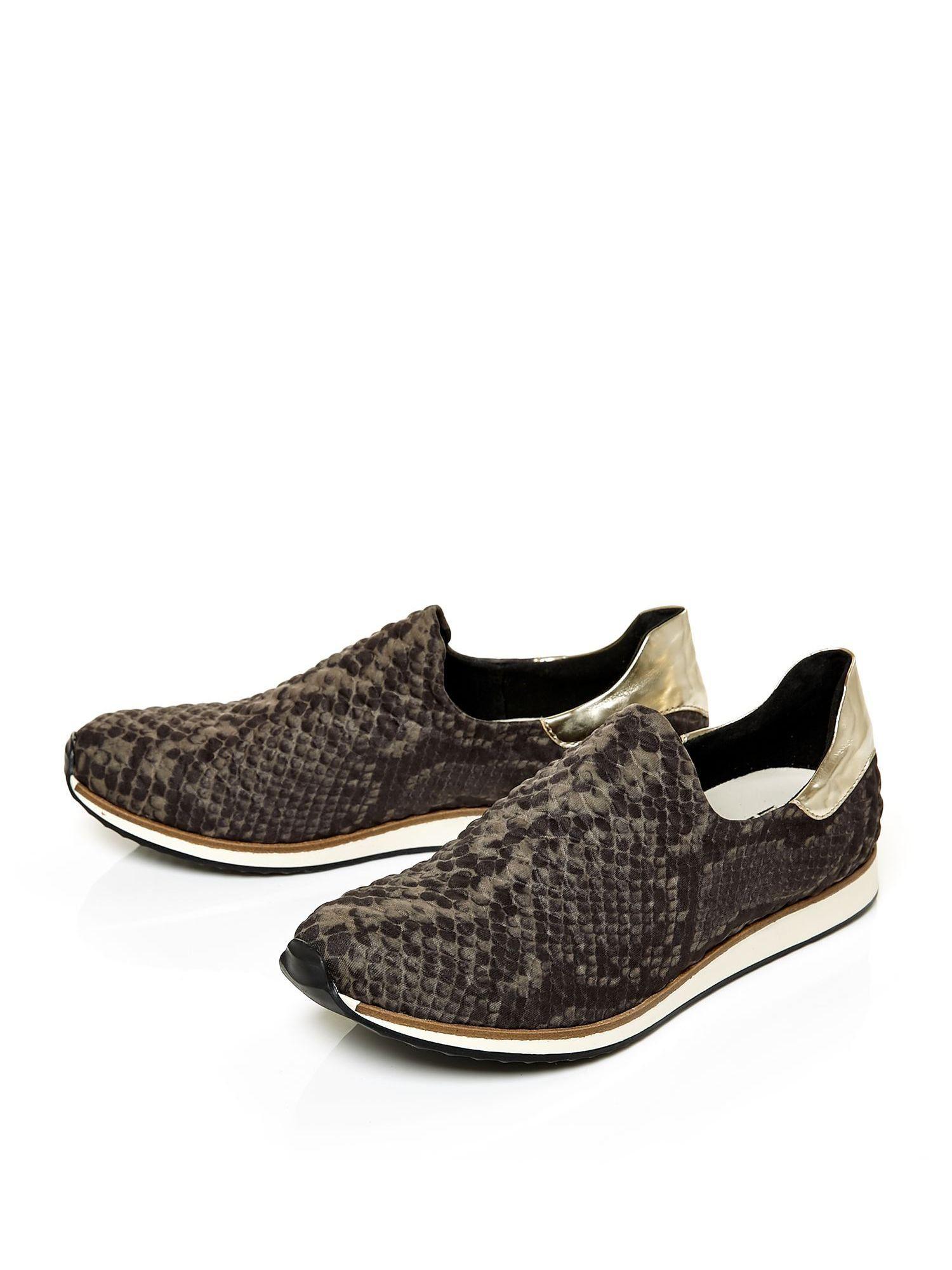 moda in pelle aleo slip on scuba style shoes in lyst