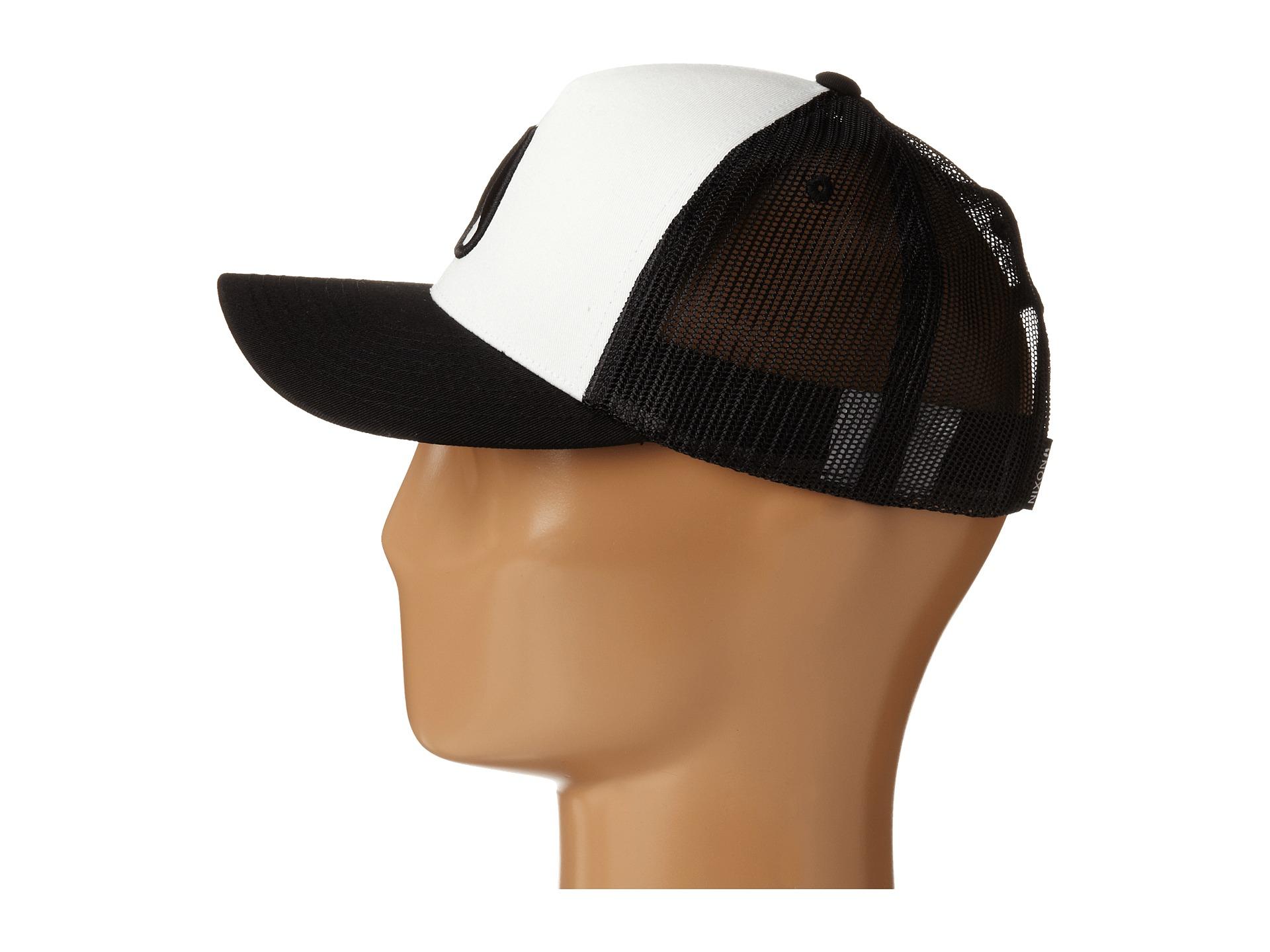 Lyst - Nixon Iconed Trucker Hat in Black 75743d3228b
