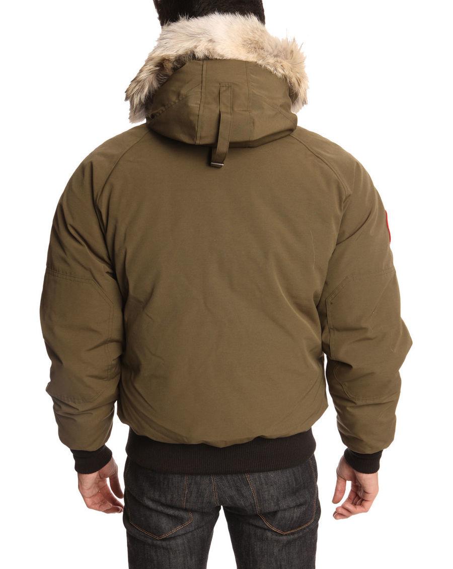 ... Canada Goose down replica price - Canada goose Khaki Chilliwack Bomber Jacket in Natural for Men ...