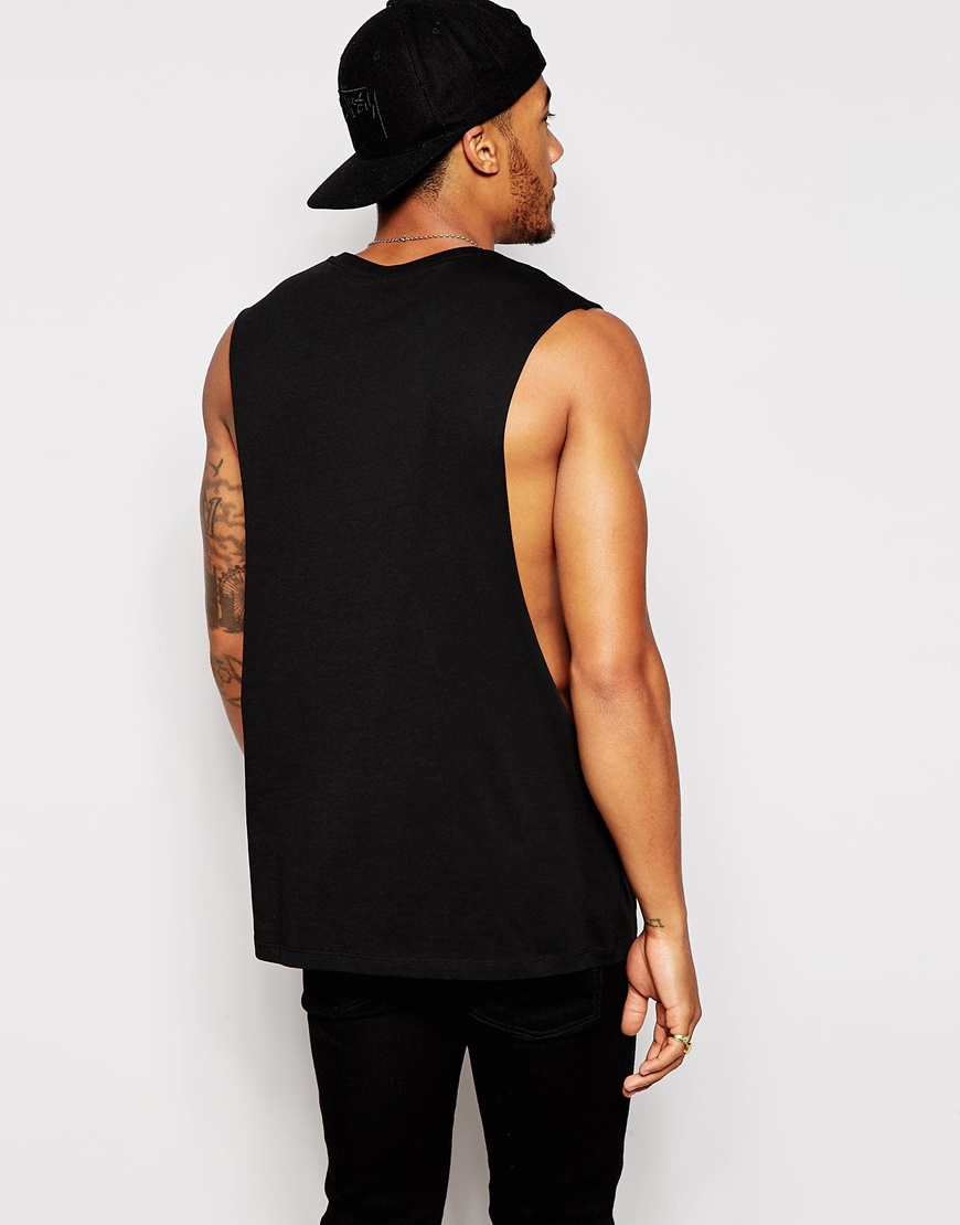 Lyst Asos Sleeveless T Shirt With Extreme Dropped