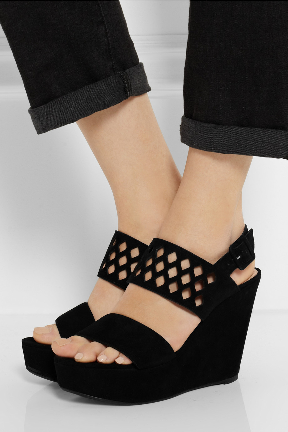cheap new styles Robert Clergerie Suede Cutout Sandals sale popular M629ucY